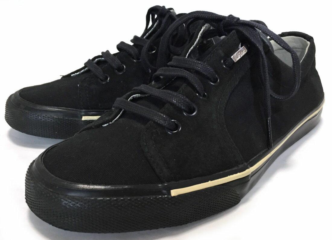 ディオールオム スニーカー ブラック 黒 メンズ 40 ディオール オム キャンバス スエード 美品 DIOR HOMME 靴 Dior 【中古】