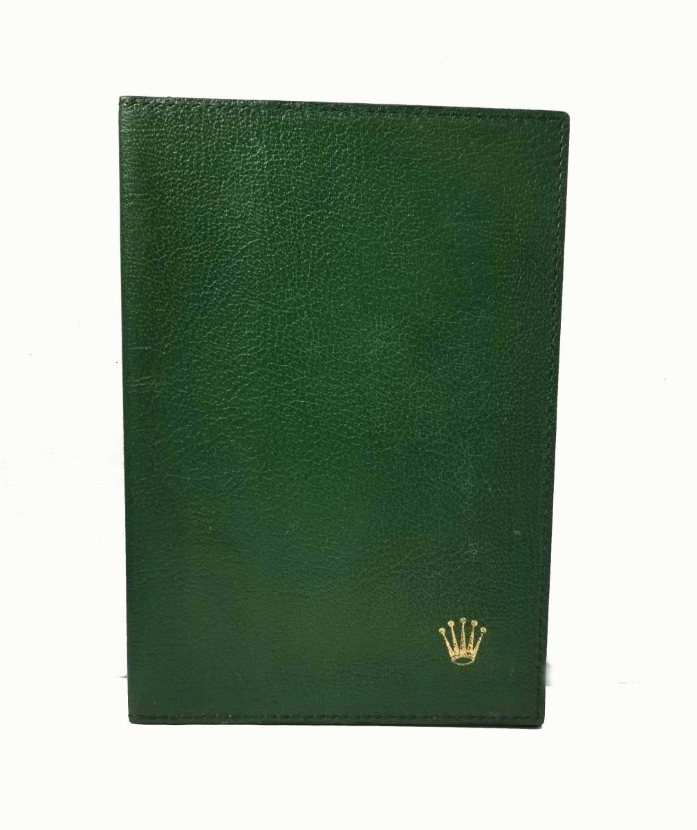 美品 ロレックス 手帳カバー レザー グリーン 緑 ROLEX ノートカバー 【中古】