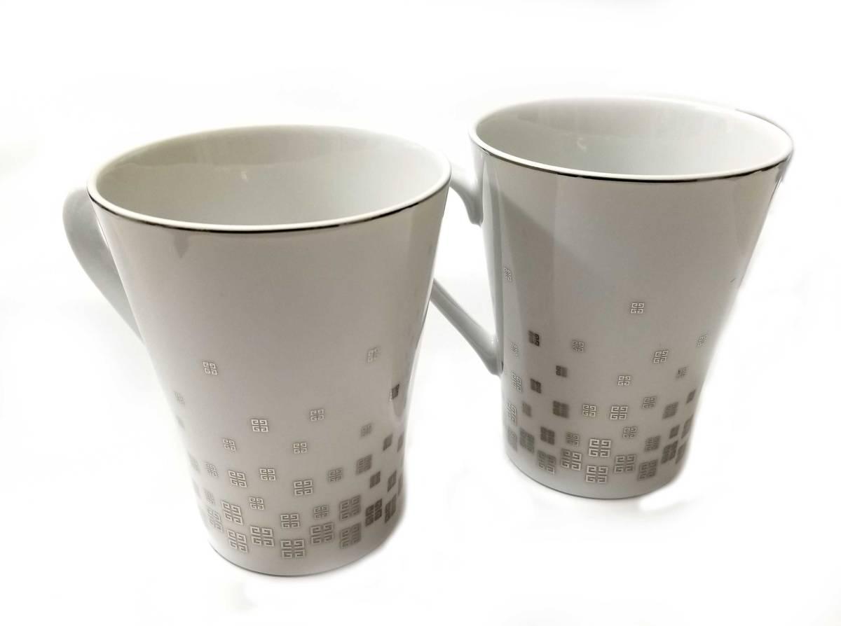 未使用 ジバンシー マグカップ ホワイト 皿 ロゴ コーヒーカップ カップ GIVENCHY お皿 【中古】