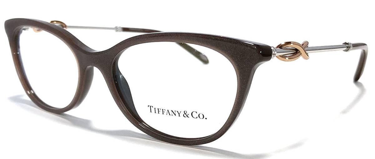 未使用 ティファニー メガネ 眼鏡 ブラック めがね フレーム ブラウン シルバー ピンクゴールド コンビ ストーン レディース メガネフレーム TIFFANY めがねフレーム 眼鏡フレーム 【中古】