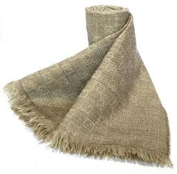 古馳GG模式羊毛圍巾圍巾貨攤圍巾淺駝色人分歧D GG GUCCI男女兼用GG花紋