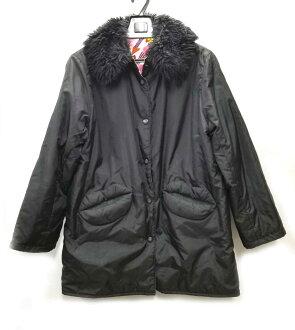 Al vero vero reversible jacket coat black black corduroy nylon OLLEBOREBLA