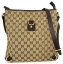 a16bb9bbb338 Take Gucci GG canvas slant, and take shoulder bag 131326 beige GG pattern  GUCCI Lady's GG pochette slant; a shoulder