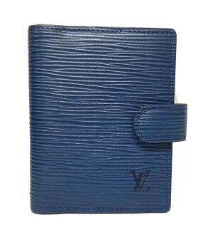 Louis Vuitton mini-notebook cover address book agenda mini-card case card case Eppie blue blue R20077 LOUIS VUITTON Louis Vuitton Louis Vuitton Louis Vuitton