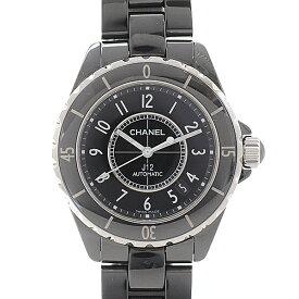 シャネル J12 メンズ腕時計 ジェイトゥエルヴ H0685 オートマ 38mm ブラック・黒 CHANEL【中古】
