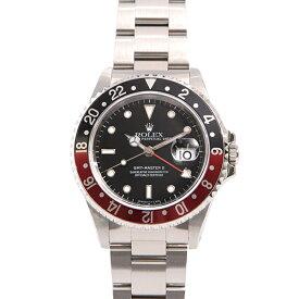 ロレックス GMTマスター2 メンズ腕時計 16710 U番 赤黒 ブラック ROLEX【中古】