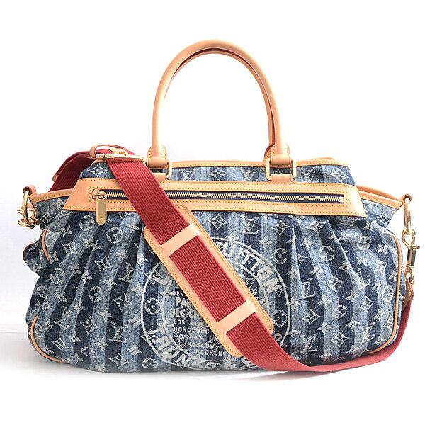 ルイヴィトン Louis Vuitton デニム カバレイエGM 2WAYバッグ ボストンバッグ レディース ブルー M95336【中古】