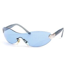 ブルガリ BVLGARI パレンテシ ワンレンズサングラス メンズ レディース ブルー 607 110/72【中古】
