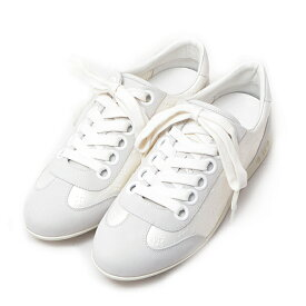 ルイヴィトン 靴 レディース モノグラム ローカットスニーカー ホワイト グレー 37ハーフ(24cm) Louis Vuitton【中古】