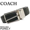 コーチ COACH ファッション 小物 メンズ ベルト ハーネス リバーシブル シグネチャー レザー ベルト F55158 BLK ブラック コーチ COACH...