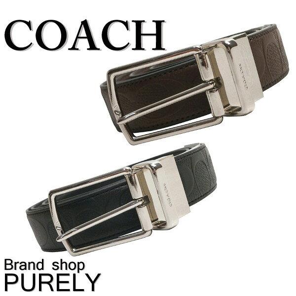 コーチ COACH ファッション 小物 メンズ ベルト ハーネス リバーシブル シグネチャー レザー ベルト F55158 BLK ブラック MAH マホガニー コーチ COACH メンズ レディース UUU MMM