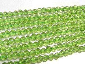 ペリドット ラウンド 連販売 約3mm(天然石ビーズ) パワーストーン グリーン 緑 アクセサリーパーツ ハンドメイド DIY