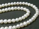 淡水パール ポテト ホワイト 約5-6mm 連販売 (淡水真珠)
