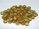 カラーロンデル 平ロンデル アクセサリーパーツ ゴールド×トパーズカラー 約8mm (10個入り) イエロー 黄 金