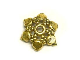 チベタン 座金 スノー 金古美 約10mm(10個セット) ビーズキャップ
