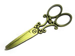 チャーム ハサミ 約80×30mm 真鍮古美 【5個セット】 はさみ 鋏 アクセサリーパーツ ハンドメイド DIY