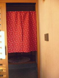 【手作り小物】和柄【うさぎ文】で作った暖簾(ハーフ丈)