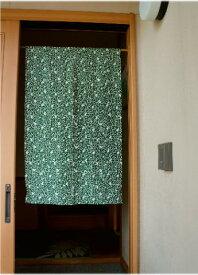 【手作り小物】唐草ネコカジュアル暖簾(ミドル丈)