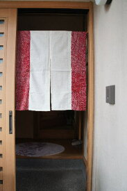 【手作り小物】絞り型古布暖簾(ミドル丈)