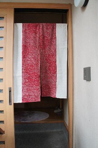 【手作り小物】絞り型古布暖簾(ロング丈)