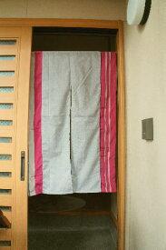 【手作り小物】古代縞古布暖簾(ロング丈)
