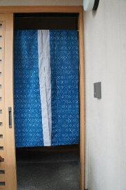 【手作り小物】古布使用!!井桁絣文暖簾(ロング丈)