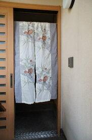 【手作り小物】リメイク紗生地の暖簾(ロング丈)