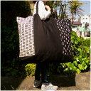 【特大サイズ】モノトーンキューブ手作りお昼寝布団バッグ【入園準備】