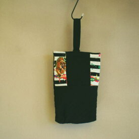 【入園準備】【シューズバッグ】洗える!サファリ手作りキルト子供用シューズバッグ