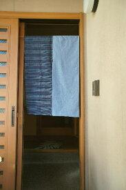 【手作り小物】【和柄ストライプ&大和紬】で作った暖簾(ミドル丈)