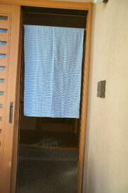 【手作り小物】【チヂミストライプ】で作った暖簾(ミドル丈)