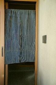 【手作り小物】【紺縦縞】で作った暖簾(ロング丈)