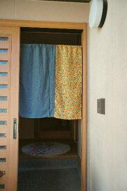 【古布暖簾】和テイスト!壺文暖簾(ミドル丈)