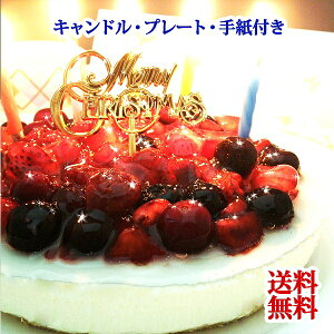 誕生日ケーキ クリスマスケーキ 送料無料 4種のベリーチーズケーキ【ローソク・プレート・手紙付】【フルーツケーキ チーズケーキ バースデーケーキ cheesecake Sweets スイーツ】