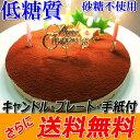 クリスマスケーキ 糖質75%カット 低糖質 生チョコレアチーズケーキ【ローソク・Xmasプレート・柊ピック・手紙付】クリ…