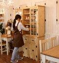 カントリー調食器棚 カントリー家具 ナチュラルカントリー オーダー家具 COUNTRY・2ガラスドア・シンプルカップボード ctf cbd