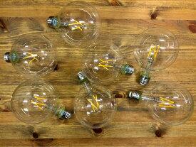 レトロ型LED電球 E26 電球色 フィラメント型LED 7個セット