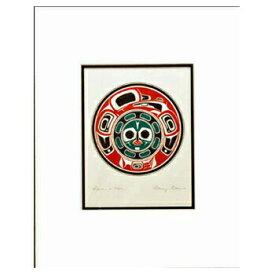 アート プリント画 ダブルマット カナダ 先住民 ネイティブ インディアン DENNIS [ RAVEN'S MOON ]