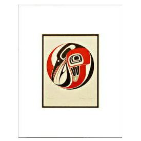 アート プリント画 ダブルマット カナダ 先住民 ネイティブ インディアン DENNIS [ RAVEN ]