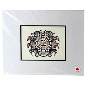 アート プリント画 ダブルマット カナダ 先住民 ネイティブ インディアン STROMQUIST [ SISIUTLE ]