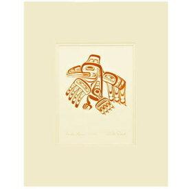 アート プリント画 ダブルマット カナダ 先住民 ネイティブ インディアン REID [ HAIDA RAVEN-XUUYA ワタリガラス ]