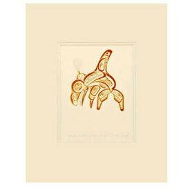 アート プリント画 ダブルマット カナダ 先住民 ネイティブ インディアン REID [ HAIDA KILLER WHALE-SKAANA シャチ ]