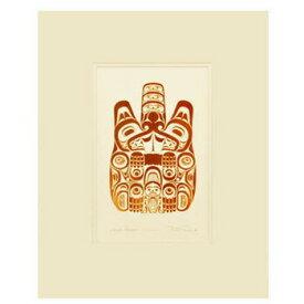 アート プリント画 ダブルマット カナダ 先住民 ネイティブ インディアン REID [ HAIDA BEAVER-TTSAANG ]