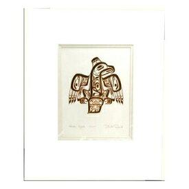アート プリント画 ダブルマット カナダ 先住民 ネイティブ インディアン REID [ HAIDA EAGLE -GHUUT- ]