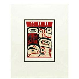 アート プリント画 ダブルマット カナダ 先住民 ネイティブ インディアン COOK [ ELEMENT WITHIN IV ]