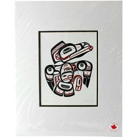 アート プリント画 ダブルマット カナダ 先住民 ネイティブ インディアン BOXLEY [ RAVEN ]