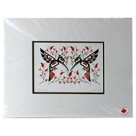 アート プリント画 ダブルマット カナダ 先住民 ネイティブ インディアン PARNELL [ HUMMINGBIRDS ]