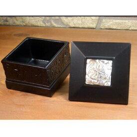 ネイティブ ギフトボックス カナダ 先住民 インディアン BOMA製 [ PEWTER INLAY BOX ] 小物入れピューターインレイ小 黒