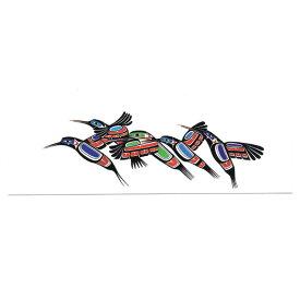 本 しおり ブックマーク カナダ 先住民 ネイティブ インディアン デザイン [ HUMMINGBIRDS ハチドリ ]