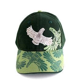 帽子 ストレッチフィット キャップ CAP カナダ 先住民 インディアン デザイナーズ 57-59cm Eagle's First Flight